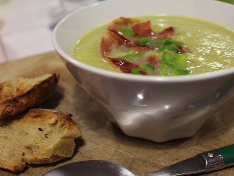 Velouté verdure au jambon cru | Food sucré, salé | Scoop.it