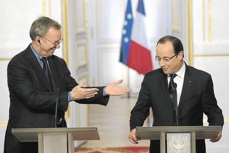 François Hollande était l'hôte d'Eric Schmidt à l'Elysée !