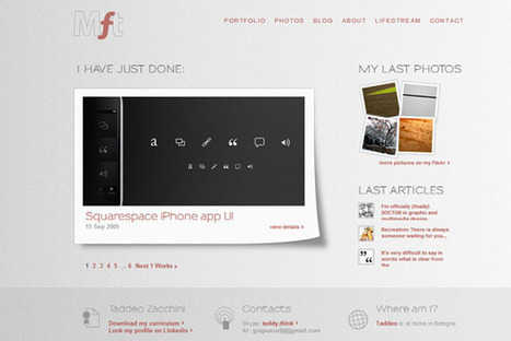 60 Beautiful Clean and Light Web Designs for Inspiration | iPhone Development Weitze | Scoop.it
