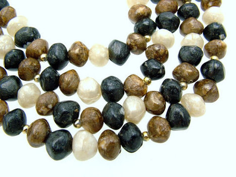 Vintage Double Strand Necklace Natural Stone Look circa 1970s | Beautiful Bargain Vintage Costume Jewelry | Scoop.it
