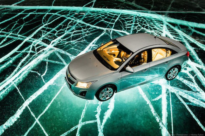 Photographers Take Epic Car Photographs by Lighting Up a Frozen Lake from Below | Machinimania | Scoop.it