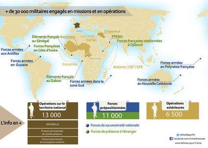 La France en guerre : carte des opérations et missions militaires   Pour la classe d'histoire-géographie   Scoop.it