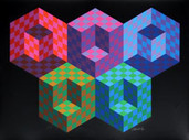 Victor Vasarely Prints and Paintings - Optical Art Gallery at RoGallery.com | Emily Hermant: dibujo espacial I | Scoop.it