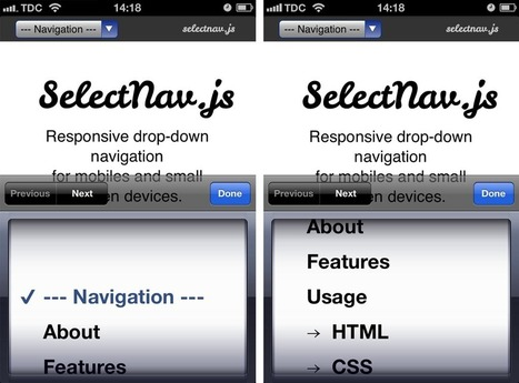 Mobile: Never Use Native Drop-Downs for Navigation - Articles - Baymard Institute | UX | IxD | UI | Scoop.it
