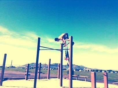 Andres Lin Fan's gif: Handstands on a pull-up bar. #sports #gymnastic... | Handstands for the Holidays | Scoop.it