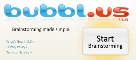 bubbl.us | brainstorm and mind map online | Edu 2.0 | Scoop.it