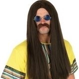 Mens 60s Hippy Brown Wig And Glasses | Fancy Dress Ideas | Scoop.it