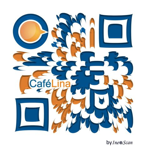 QRcode design by Ineoscan for CaféLina | QRdressCode | Scoop.it