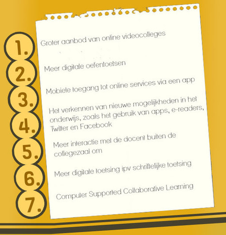 Wat willen studenten met ICT in het onderwijs? - Artikel - SURFspace | De integratie van ICT-e in het curriculum van de lerarenopleiding | Scoop.it