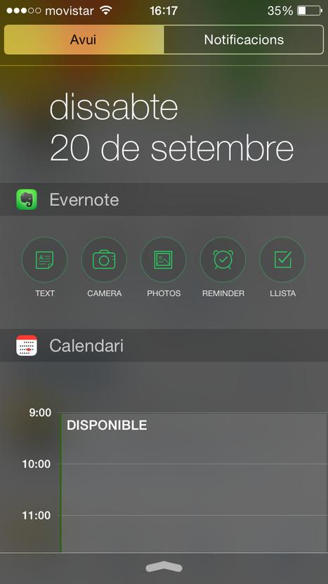 Widget de Evernote x iOS8   Evernote & Educació   Scoop.it