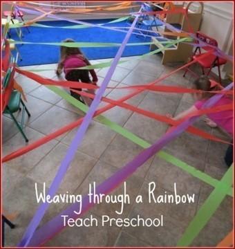 Weaving through a rainbow | Teach Preschool | Scoop.it