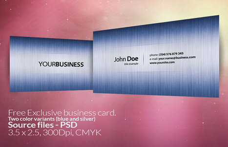 20 Free Photoshop Business Card Templates - DJDESIGNERLAB | photoshop ressources | Scoop.it