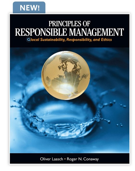 """Principles of Responsible Management"": Glocal Sustainability, Responsibility, and Ethics... A Must Read Resource ⚛ 