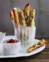 "Garlic Bread ""Fries"" with Marinara ""Ketchup"" Recipe - Grace Parisi 