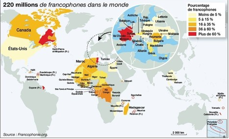 La Francophonie : 220 millions de locuteurs sur 5 continents | Marion AF | Scoop.it