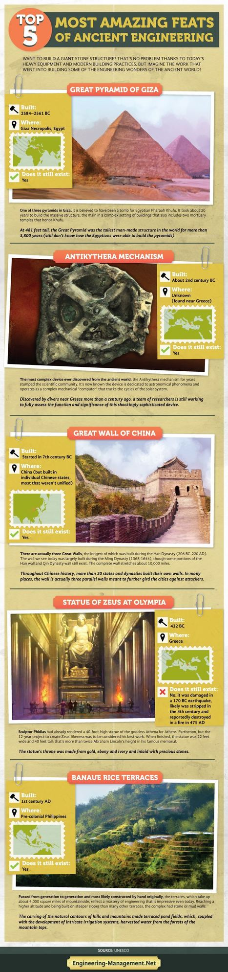 Top 5 Amazing Ancient Engineering Feats Showcase | All Infographics | All Infographics | Scoop.it