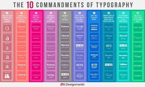 10 Commandments of Type and Color | random stuff | Scoop.it