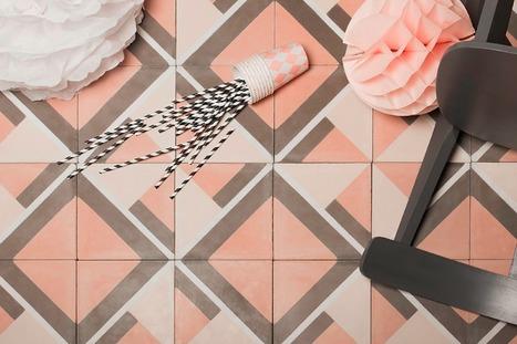 Crush   JUSTINE, les carreaux de ciment aux motifs girly de Bahya   décoration & déco   Scoop.it