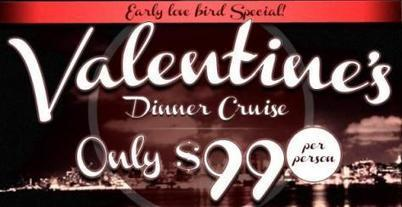 Valentine's Day Dinner Cruises for Two at Above All Cruises | New York City News | Scoop.it