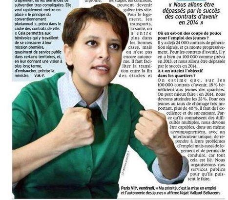 Mes priorités pour la jeunesse, entretien dans Le Parisien / Aujourd'hui en France   Najat Vallaud-Belkacem   Éducation   Scoop.it