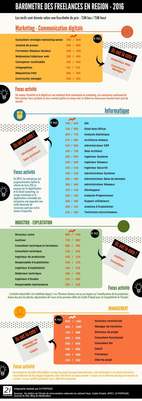 Baromètre des freelances et consultants en région - 2016 | Emploi 2.0 | Scoop.it