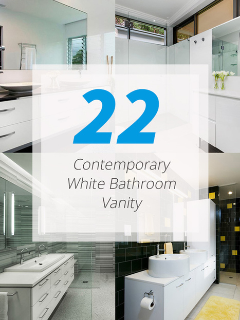 22 Neat Contemporary White Bathroom Vanity | Home Design Lover | Home living Spaces - Kitchen - Bathroom - Living | Scoop.it