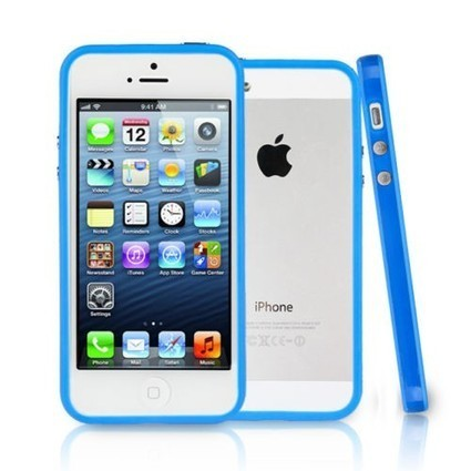 TPU Bumper Frame Silicone Skin Case Cover for iPhone 5 / 5S / 5C - Navy Blue - iPhone - Apple Accessories | Bookmarking | Scoop.it