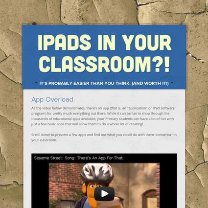 iPads In YOUR Classroom?!   Professional Development   Scoop.it