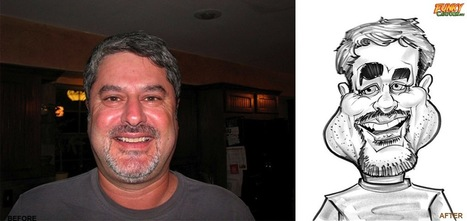 Our latest caricature Black and White Birthday Caricature | Custom Caricatures | Scoop.it