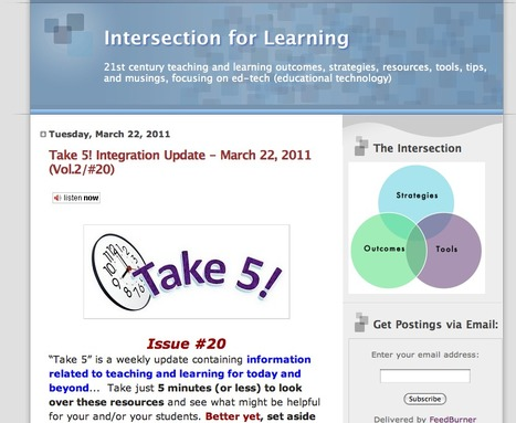 Intersection for Learning | Engaging students in the 21st century | Scoop.it
