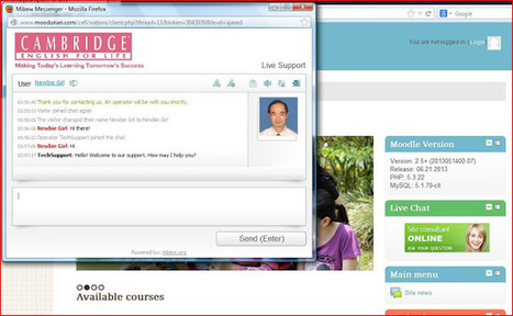 A professional-looking and Open Source Live Chat with Webim for visitors to your Moodle site | e-learning | Scoop.it