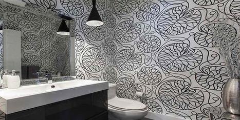 Kamar Mandi Lebih Modern Dengan Desain Wallpaper | Peluang Properti | Scoop.it