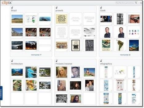 Clipix organisez vos favoris sur internet | Nouvelles des TICE | Scoop.it