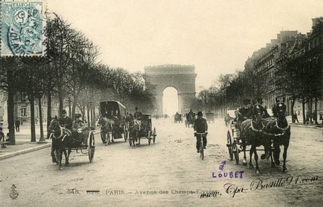 Paris en 1900 – Avenue des Champs-Élysées | Cartes Postales Anciennes | Auprès de nos Racines - Généalogie | Scoop.it