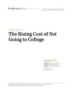 The Rising Cost of Not Going to College | IssueLab | Evidence-based Practices in STEM Education | Scoop.it