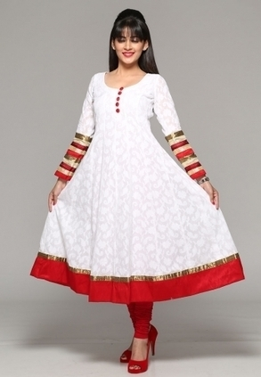 Find Best Discount Deals with Low Price on Designer White Coloured Kurta For Women's, Buy White Kalidar Kurta Only Rs-3,499 At Best Online Designer Store for ladies in India-itibeyou.com | Buy  Women Shirts‎ on itibeyou.com | Scoop.it
