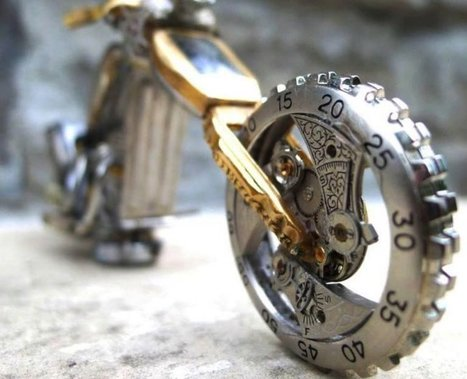 Miniature Motorcycles Made From Vintage Watch Parts #ArtTuesday | Heron | Scoop.it