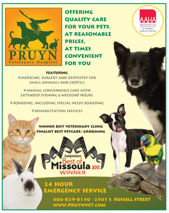 Best Veterinary Clinic/Hospital - Missoula Independent | Happy And Healthy Pets | Scoop.it