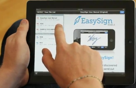 EasySign: A free iOS app for signing PDFs as you go   iPads and Tablets in Education   Scoop.it