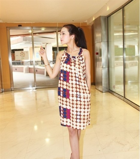 Fashion Cute Polka Dot Printing Dress Comfortable Silk Dress | New fashion trends for women | Scoop.it