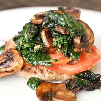 #Healthy #Recipe / Naked Turkey Burgers with Sauteed Spinach and Mushrooms | Lose Weight | Scoop.it