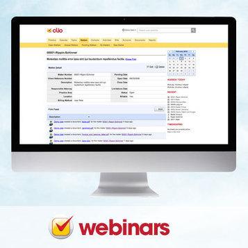 Clio Webinars | Legal Informatics | Scoop.it