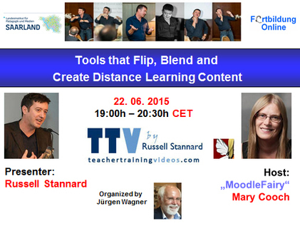 Globinars: FREE webinar with Russell Stannard: Tools that Flip, Blend and Create Distance Learning Content | Moodle and Web 2.0 | Scoop.it