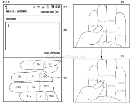 Samsung 'Galaxy Glass' Patent Filing Shows Augmented Reality Keyboard That Gets Projected Onto Your Fingers | izim-news | Scoop.it