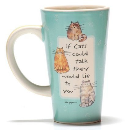 Tumbleweed Pottery 'If Cats Could Talk They Would Lie to You' Ceramic Pet Coffee Mug | Kitchen | Coffee Mug | Scoop.it