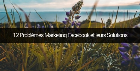 12 problèmes marketing pour une page Facebook et leurs solutions | Community Management by Nurita | Scoop.it