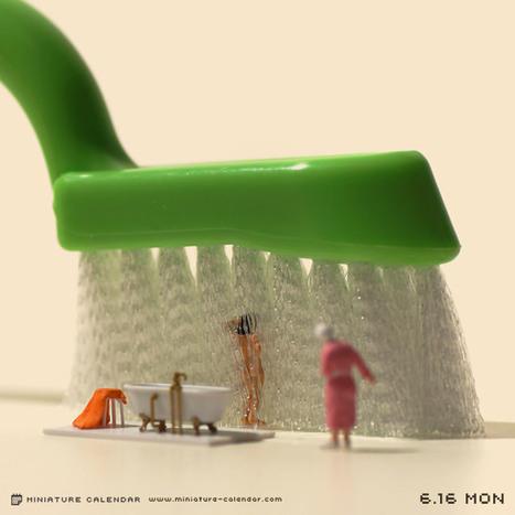 Les P'tits Hommes par Miniature Calendar   [Art] - artist's point of view, creative process &  interesting pieces   Scoop.it