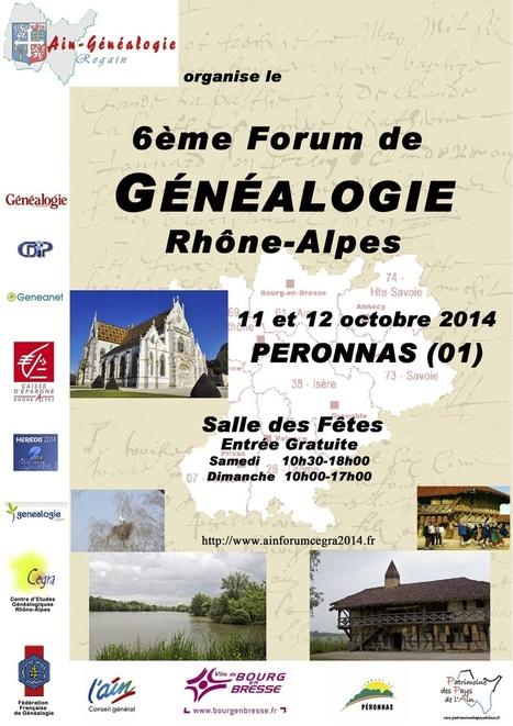 11-12 octobre Forum de généalogie Rhône-Alpes à Péronnas   Racines de l'Art   Scoop.it