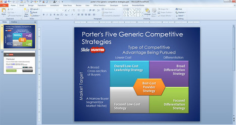 FREE Porter's Five Generic Competitive Strategies PowerPoint Template | Porter's generic strategy | Scoop.it