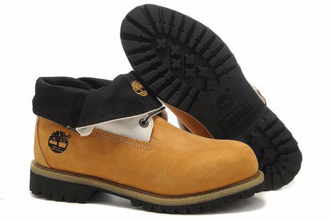 timberland roll top mens boots wheat white black | want and share | Scoop.it